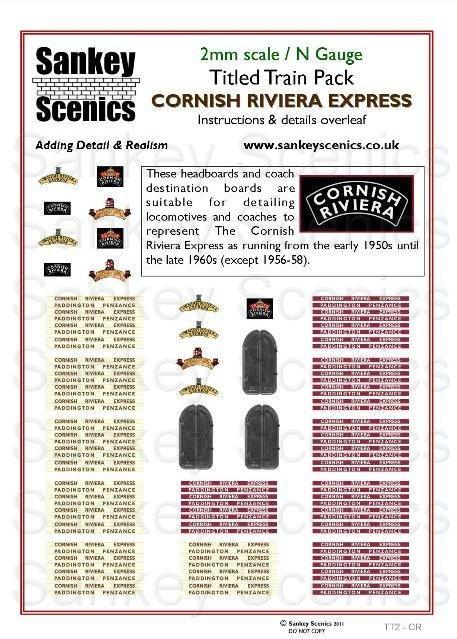 2mm Titled Train: Cornish Riviera Express