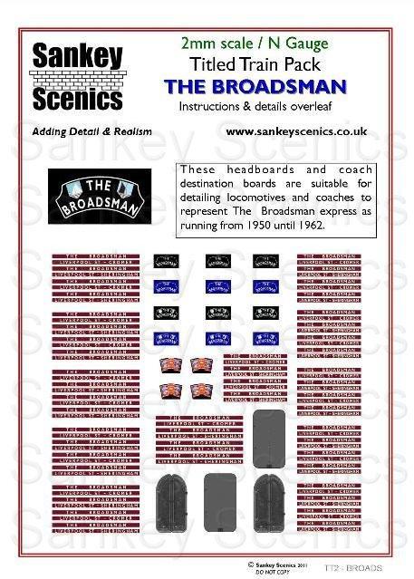 2mm Titled Train Pack: The Broadsman