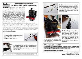 GER Destination Boards Instruction Sheet