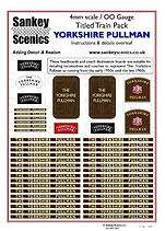 4 mm Scale Named Train YORKSHIRE PULLMAN