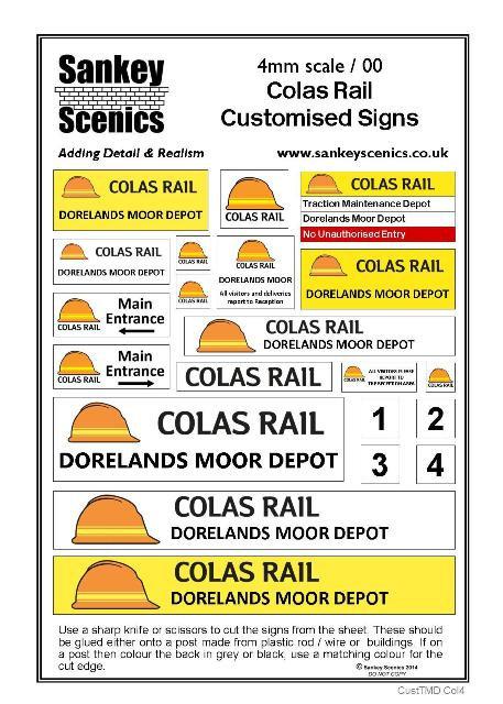 4mm Customised TMD Signage: Colas Rail