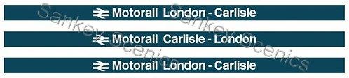 4mm Motorail Destination Boards: London - Carlisle