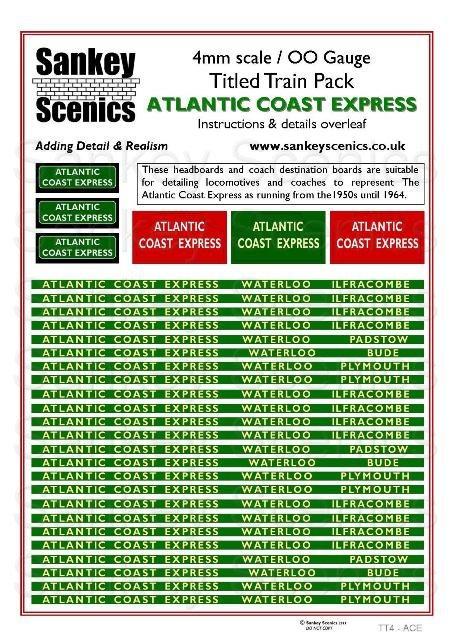 4mm Titled Train Pack: Atlantic Coast Express