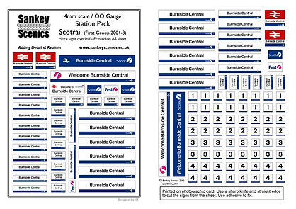 11 Station Pack Scotrail 2004.08 First G