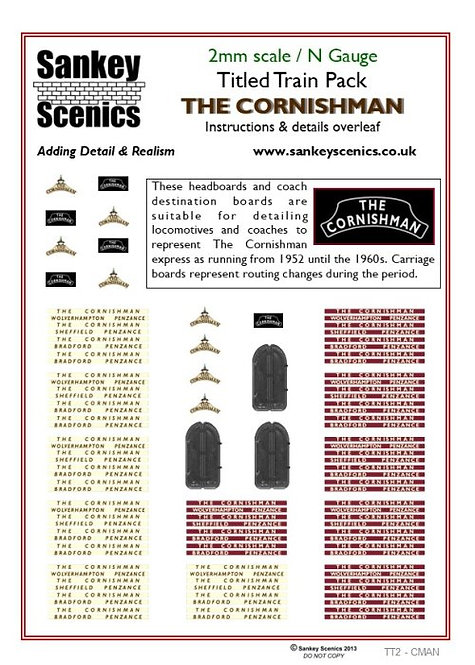 2mm Titled Train: The Cornishman