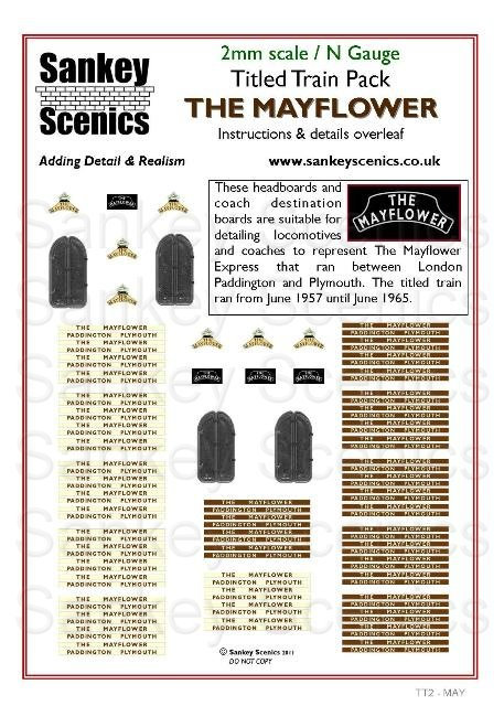 2mm Titled Train: The Mayflower