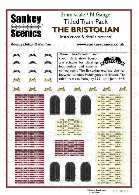 2mm Titled Train Pack: The Bristolian