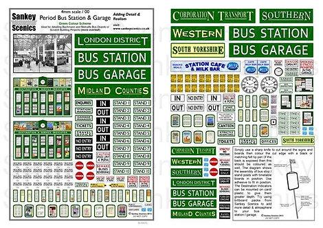 4mm Period Bus Station & Garage  Green Colour Scheme