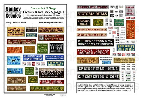 2mm Factory & Industry Signage   Pack 1