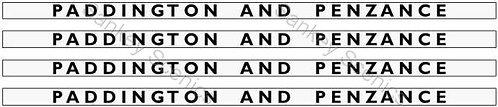 4mm GWR Hawksworth Destination Boards: Paddington & Penzance