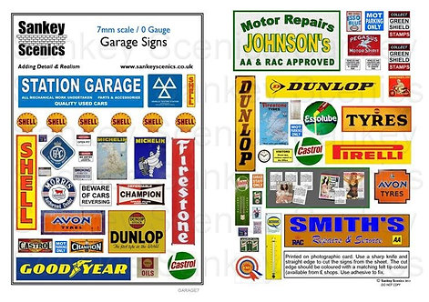 7mm Garage Signs
