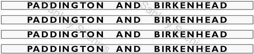 4mm GWR Hawksworth Destination Boards: Paddington & Birkenhead