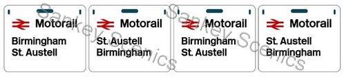 4mm Motorail Destination Panels: Birmingham, St Austell