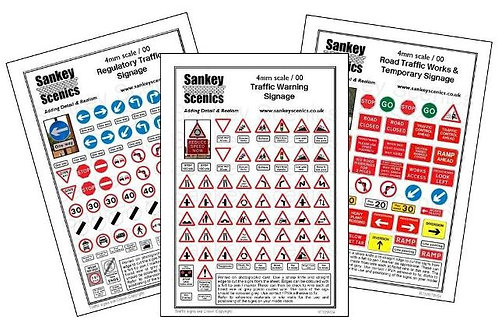 4mm Road Traffic Signs Combination Pack 1