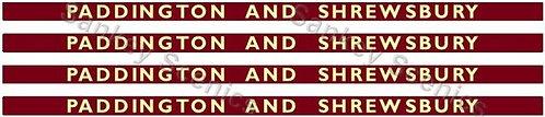 4mm BR Hawksworth Destination Boards: Paddington & Shrewsbury