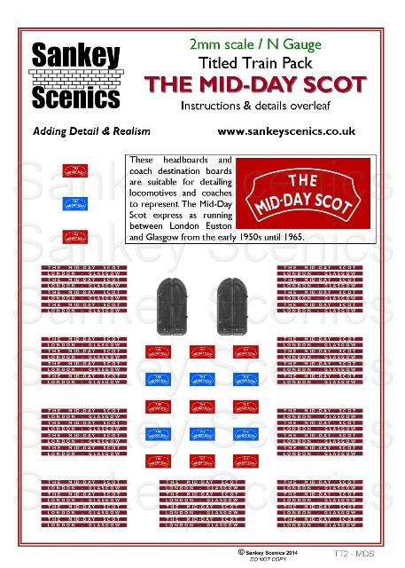 2mm Titled Train: The Mid-Day Scot