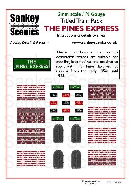 2mm Titled Train: The Pines Express