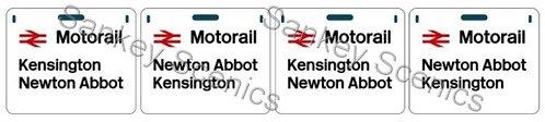 4mm Motorail Destination Panels: Kensington, Newton Abbot
