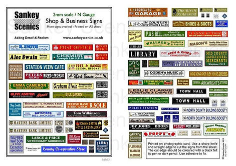 2mm Shop & Business Signs