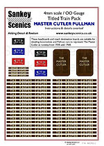 4 mm Scale Named Train MASTER CUTLER PUL