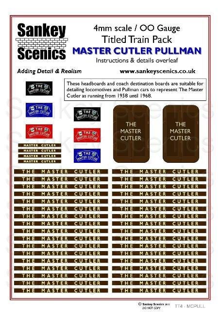 4mm Titled Train: The Master Cutler Pullman
