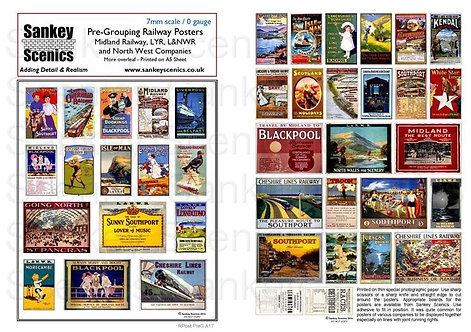 7mm Pre-Grouping Railway Posters: Northern Companies