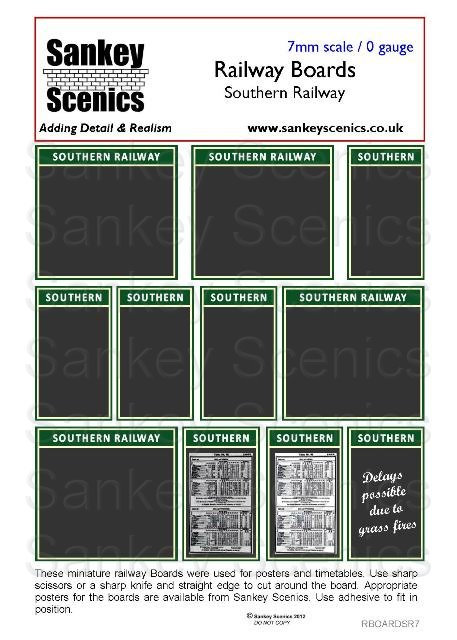 7mm Southern Railway Boards