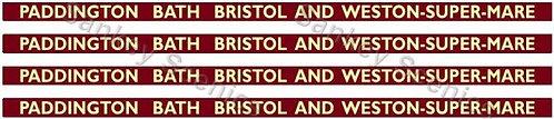 4mm BR Hawksworth Destination Brds: Paddington,Bath,Bristol & Weston-Super-Mare
