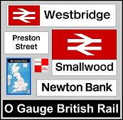 Web button British Rail Station O gauge.