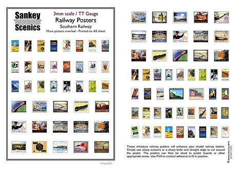 3mm TT Southern Railway Posters