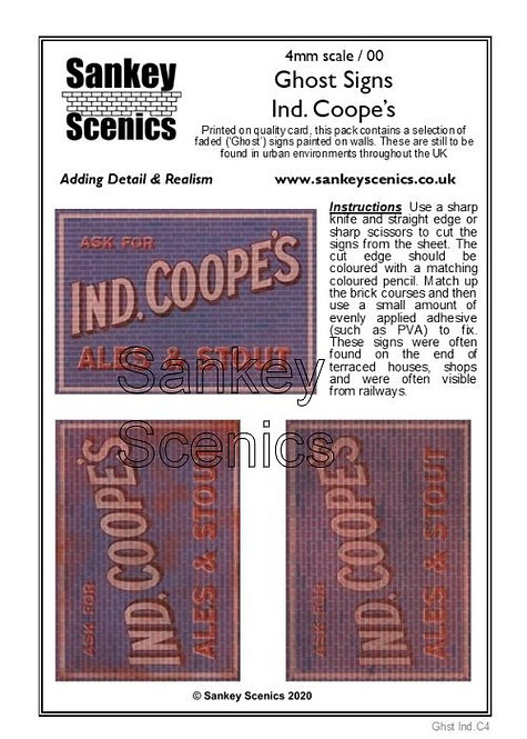 4mm Ghost Signs - Ind. Coope's Ales