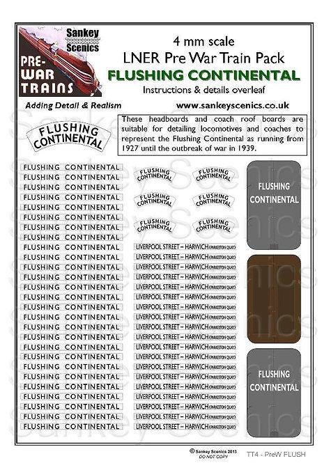 4mm Pre-war Titled Train: Flushing Continental