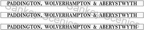 4mm GWR Destination Boards: Paddington, Wolverhampton & Aberystwyth