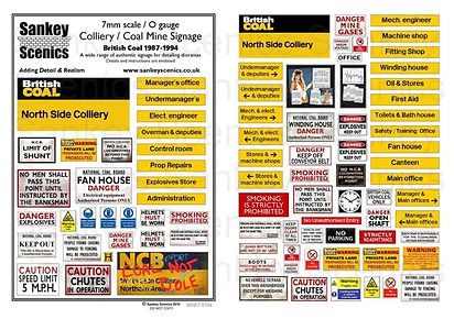 7mm Colliery Signage 87.94 British Coal.