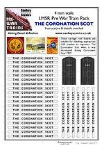 4 mm Scale Pre War Coronation Scot blue.