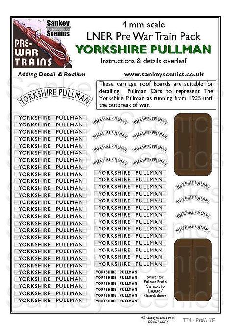 4mm Pre-war Titled Train: Yorkshire Pullman