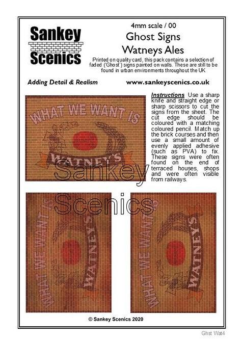 4mm Ghost Signs - Watneys
