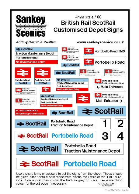 4mm Customised TMD Signage: BR ScotRail