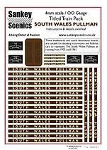 4 mm Scale Named Train SOUTH WALES PULLM