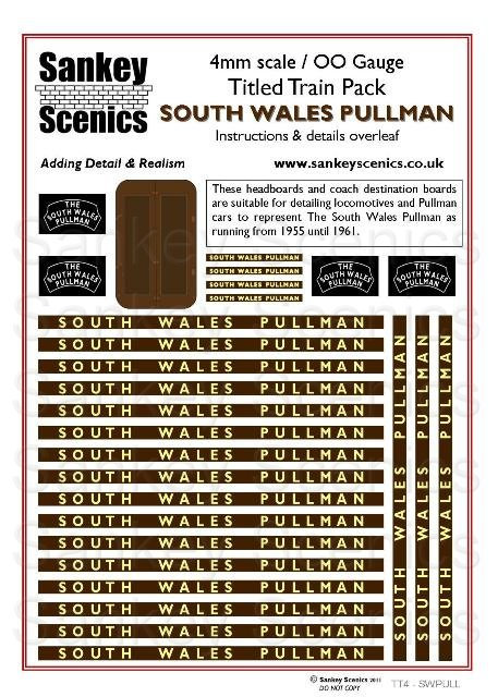 4mm Titled Train: South Wales Pullman