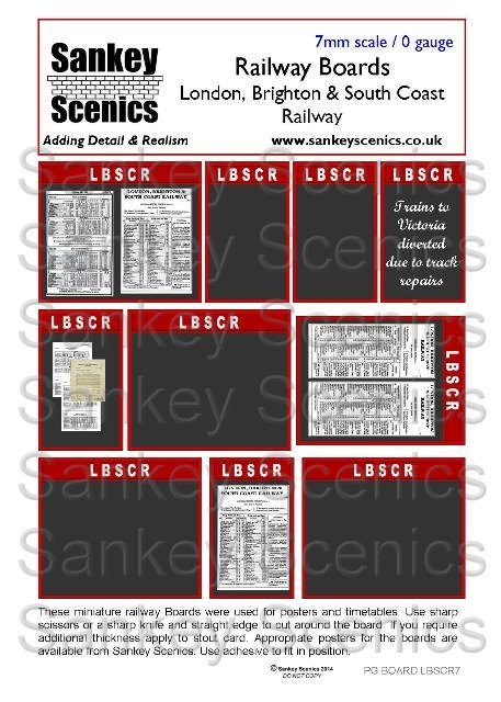 7mm Pre-Grouping Station Boards: LBSCR