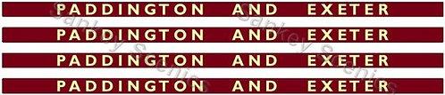 4mm BR Hawksworth Destination Boards: Paddington & Exeter