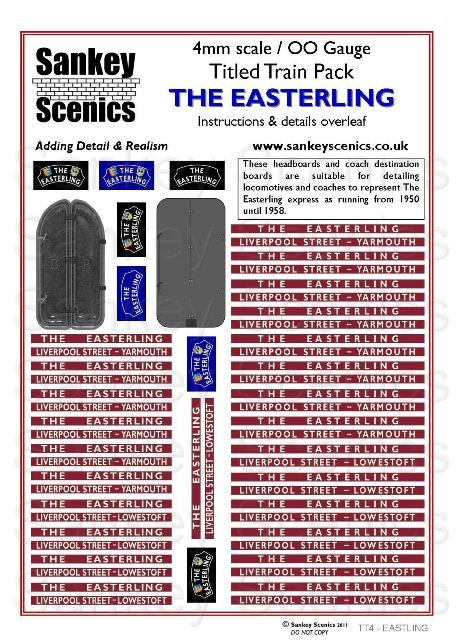 4mm Titled Train: The Easterling