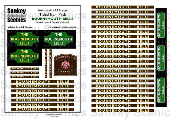 7 mm Scale Named Train Bournemouth Belle