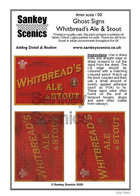 4mm Ghost Signs - Whitbreads