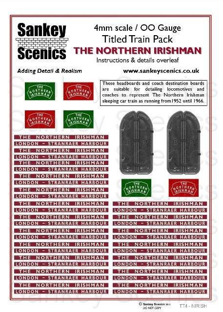 4mm Titled Train: The Northern Irishman