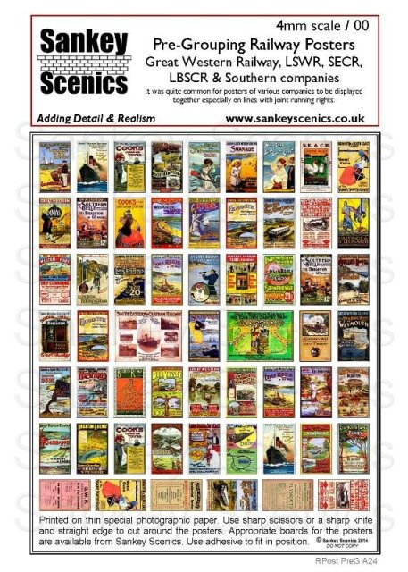 4mm Pre-Grouping Railway Posters: South & West Companies
