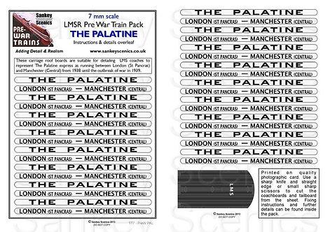 7mm Pre-war Titled Train: The Palatine