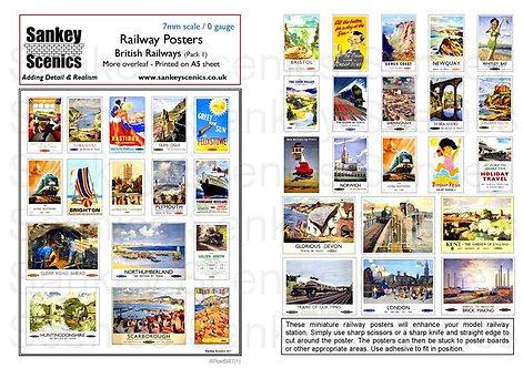 7mm British Railways Posters Pack 1