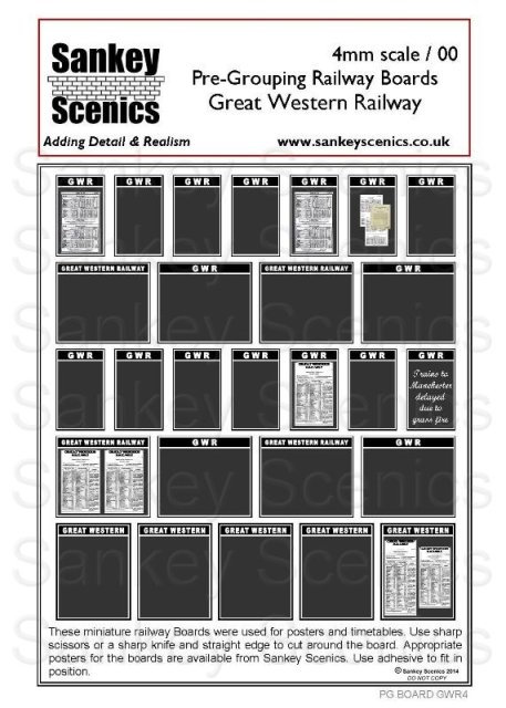 4mm Pre-Grouping Station Boards: Great Western Railway